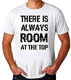 Photo de There is Always Room at The Top Daniel Webster Motivation Inspiration Quote T-Shirt pour Hommes par Brenos Design