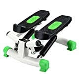 Air Climber Aerobic Fitness Step Stair Stepper Twist Übung Maschine LCD Monitor Pedal 38 Grad Ergonomic Design Green