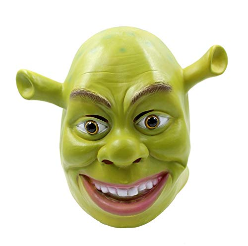 DEBRIS TIME Halloween Scary mask Masquerade Party Whole Latex Props Halloween Latex Mask Shrek mask