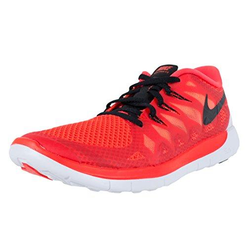 Nike Free 5.0 (Gs) Sneakers, Bambini E Ragazzi Schwarz (Bright Crimson/Black)