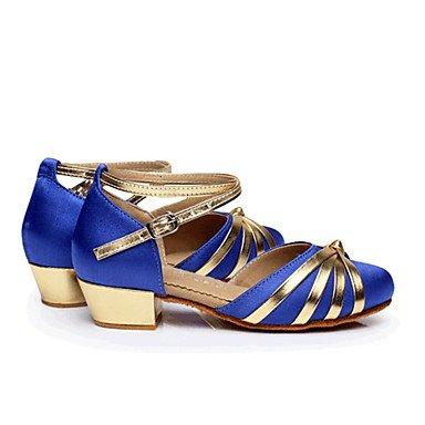 Chaussures De Danse - Unframeable - Femmes / Enfants - Moderne - Bas - Satin - Noir / Bleu / Rouge Bleu