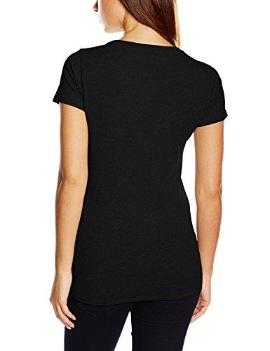Tommy Hilfiger Cotton CN Tee SS Iconic, T-Shirt da Donna nero (BLACK 990)