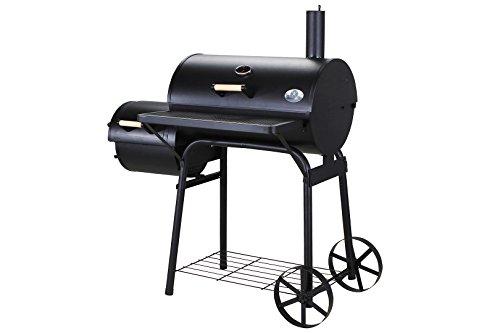 Miweba Bbq Smoker Holzkohlegrill Mr Smoke Mit Separater Grill Und Smokerflche 2 Grillrume Groe Rder