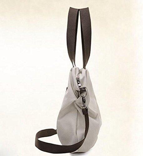 Einfache Beiläufige Kunstsegeltuchbeutelhandtaschen-Schulterbeutel Kurierbeutel Blue