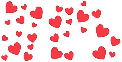 Amscan international - decorazioni a forma di cuore per san valentino