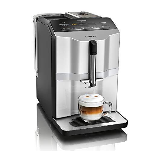 Siemens EQ.3 s300 Kaffeevollautomat TI353501DE, Keramikmahlwerk, Display, Direktwahltasten, 1300 Watt, silber