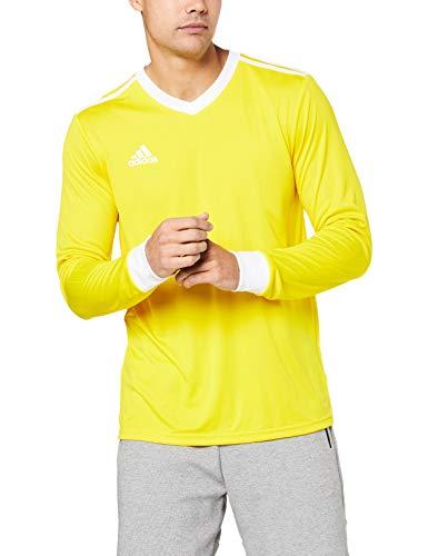 adidas Herren TABELA 18 JSY Long Sleeved T-Shirt, Yellow/White, 9-10 Years -