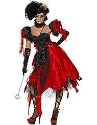 Königinkostüm für Damen König Sexy Rot Schwarz Königin Kostüm Halloween Damenkostüm Halloweenkostüm
