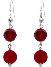 Valentina Murano Glass Matt Red Earrings