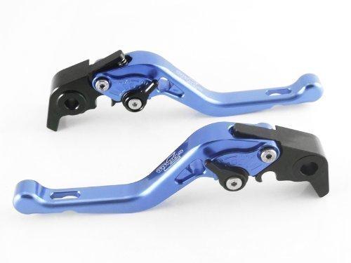 Strada 7 Racing Kurz Einstellbar Paar Blau für Honda CBR600RR 2007 Ab (Cbr600rr Hebel Shorty)