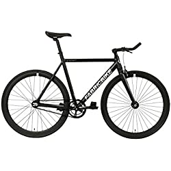 "FabricBike- Bicicleta Fixed, Fixie, Single Speed, Cuadro y Horquilla Aluminio, Ruedas 28"", 4 Colores, 3 Tallas, 9.45 kg aprox. (Light Matte Black, L-58cm)"