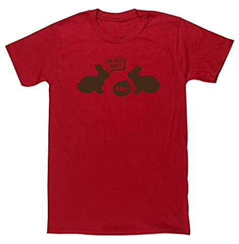 HippoWarehouse - T-shirt - Homme - rouge - Small