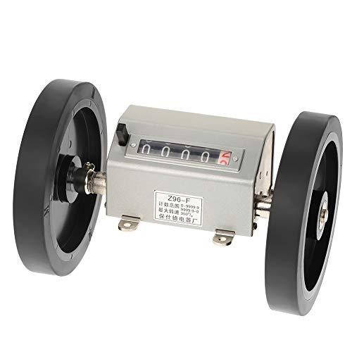 Roller-Type Meterzähler, Asixx 5 Stellige Zähler Mechanischer Längenzähler Zählbereich 0-9999.9 zum Aufzeichnen von Weben, Kunststofffolien, Leder usw - Leder-counter