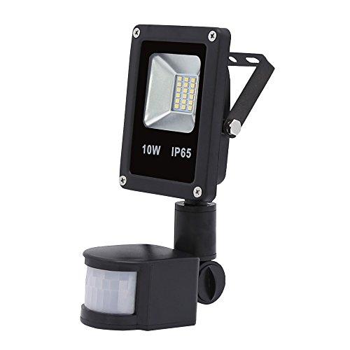 VINGO® 10W LED Strahler Fluter Außen Flutlicht Strahler mit PIR Bewegungsmelder wasserdicht IP65 Gartenstrahler Wandstrahler Warmweiß -