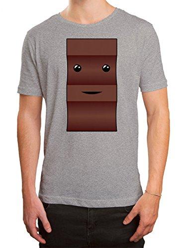 Kostüm Schoko Premium T-Shirt | Verkleidung | Karneval | Fasching | Herren | Shirt © Shirt Happenz, Farbe:Graumeliert (Grey Melange L190);Größe:3XL
