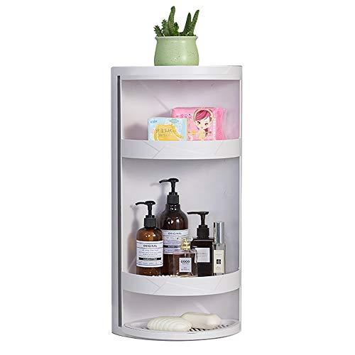 Axdwfd mensola angolare per bagno, cucina bagno mensola rotante per ripiano triangolo ripostiglio 22x22x60cm (colore : bianca)
