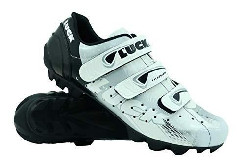 LUCK Zapatilla de Ciclismo Extreme MTB, con Suela de Carbono y Triple Tira de Velcro.(48 EU)