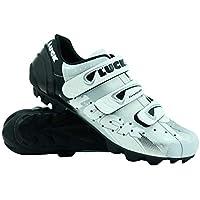 LUCK Zapatilla de Ciclismo Extreme MTB, con Suela de Carbono y Triple Tira de Velcro.(43 EU)