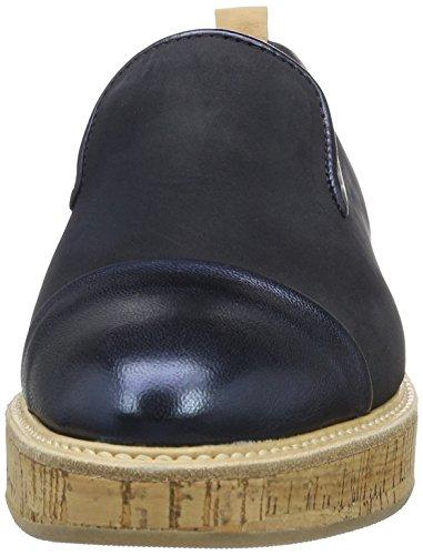 Marc O'Polo Damen 70113843201110 Loafer Slipper Blau (Dark Blue)