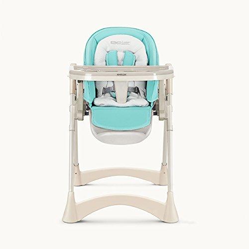 Brisk- Esszimmerstuhl Für Kinder, Faltbar, Babystuhl, Multifunktion, Tragbar, Baby Isst, Essensstuhl ( Farbe : Hellblau ) (Bouncer Faltbar)