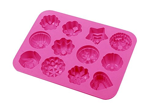 YARBAR Cavità Fiori Silicone Antiaderente Torta di Pane Muffa del Cioccolato Della Caramella Della Gelatina muffa di Cottura