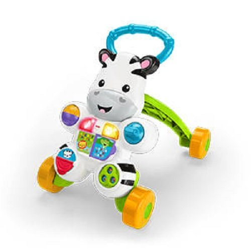 Fisher-Price Zebra de juguete, multicolor (Mattel DLF00)