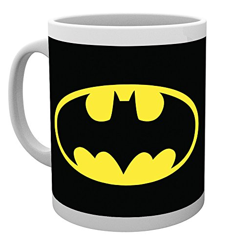 Ambrosiana gb eye ltd, dc comics, batman logo, tazza