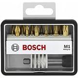 Bosch Robust Line Set M / 2607002577 Coffret d'embouts pour visseuse 12+1 pièces 25 mm