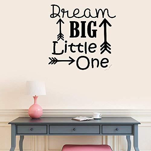 Wandaufkleber Kinderzimmer wandaufkleber 3d Träumen Sie große kleine kleine Mannhöhle-Wand-Krankenschwester-Zitat-Aufkleber-Waldkindergarten-Kinderzimmer