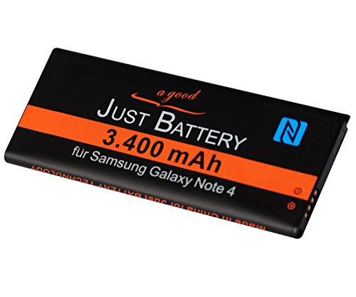 Original JuBaTec Akku für Samsung Galaxy Note 4 SM-N910F mit NFC und 3400 mAh ersetzt EBBN910BB