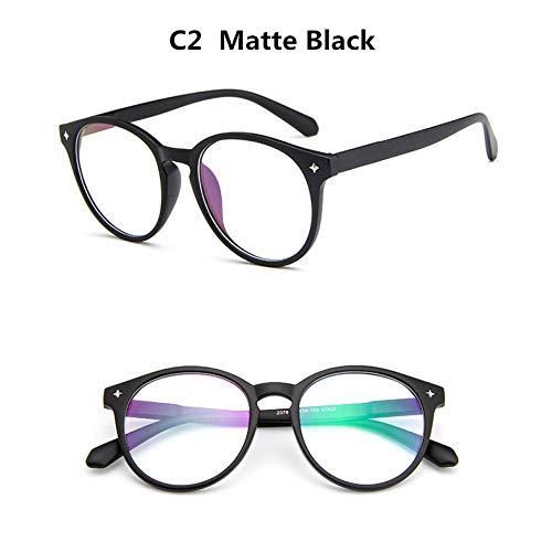 YMTP Frauen Runde Brillen Rahmen Designer Männer Nagel Dekoration Optische Gläser Dekorative Lesebrille