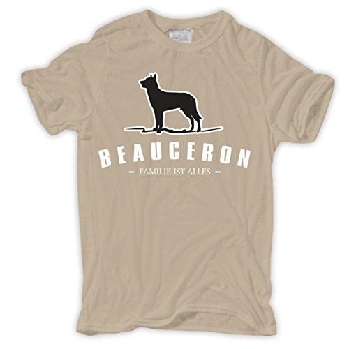 Männer und Herren T-Shirt Beauceron - Familie ist alles Sand