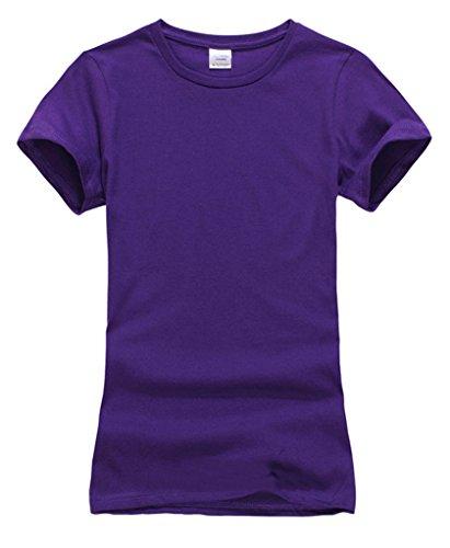Smile YKK Kind Mädchen Junge Kurzarm Sommer T-Shirt Oberteil Basis Tops Kurzarmshirt Poloshirt Violett