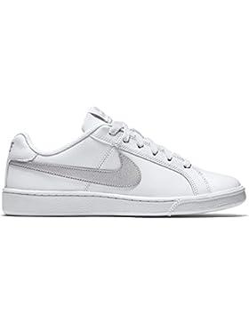 Nike Damen Wmns Court Royale Low-Top, White/Metallic Silver, Media