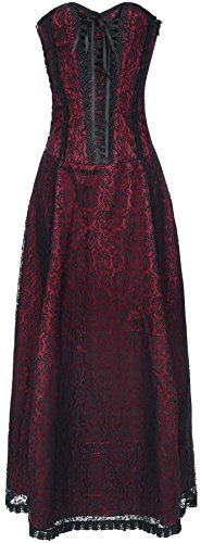 Gothicana by EMP Wedding Dress Abito nero/rosso L
