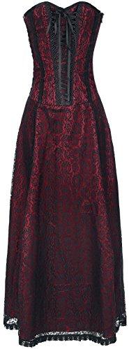 Gothicana by EMP Wedding Dress Abito nero/rosso L