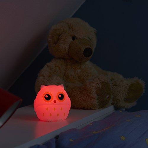 Eule Einschlafhilfe LED Farbwechsel Schlummerlicht Nachtlicht  - Eule Baby und Kinder Nachtlicht aufladbar über USB - Schlummerlicht, Schlafhilfe, Nachtlicht, Kindernachtlicht, Kinder, Farbwechsel, Eule, einschlafhilfe kind, einschlafhilfe, Babynachtlicht