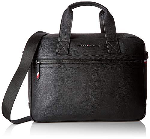 Tommy Hilfiger Herren Essential Computer Bag Laptop Tasche, Schwarz (Black) 9x30x40 cm -