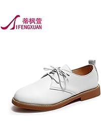 Im Frühjahr und Herbst Sehr geehrte Damen Freizeitschuhe Flache Schuhe Europäischen und Amerikanischen College wind Schuhe, weiße 43