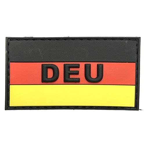 Deutsch DEU Flagge PVC Klett Emblem Abzeichen