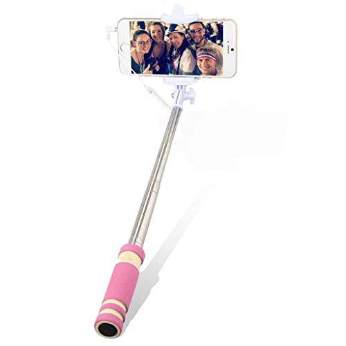 Mobile Link Wired Mini Selfie Stick/Foldable Selfie Stick/Mini Selfie Stick/Pocket Selfie Stick Monopod with270 Degree Rotation (Pink) for Karbonn Smart A50s  available at amazon for Rs.199