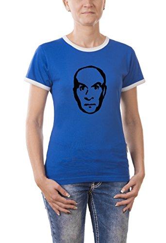 Touchlines - T-Shirt Louis de Funes, T-shirt da donna, blau, XL