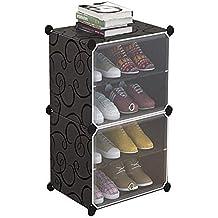 Multi-Layer Zapato Rack Transparente Puerta Simple Zapato gabinete plástico a Prueba de Polvo Multi