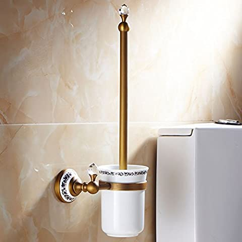 X&L Rosa oro oro WC spazzola WC