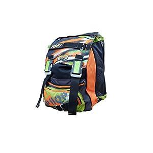 41ritn6wdTL. SS300  - Seven - Mochila Escolar Extensible - Color Verde y Naranja con Paraguas, 28 l, 38 x 27 x 24 cm