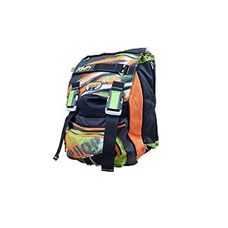 Seven – Mochila Escolar Extensible – Color Verde y Naranja con Paraguas, 28 l, 38 x 27 x 24 cm
