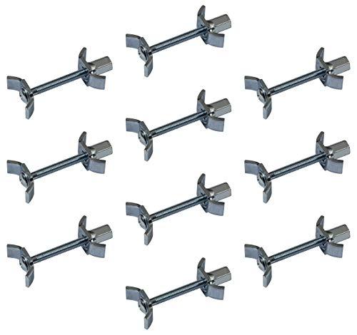 Gedotec Möbelverbinder-Schrauben Verbindungsschraube 150 mm Massiv-Holzverbinder aus Stahl | Möbel-Verbinder mit M6 Gewinde | Eckverbinder mit Bohrmaß: 75-84 mm | 10 Stück - Arbeitsplatten-Verbinder