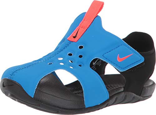 Nike Jungen Sunray Protect 2 (td) Dusch-& Badeschuhe, Mehrfarbig (Photo Blue/Bright Crimson/Black 400), 26 EU (Boys Blue Nikes)