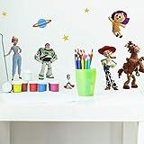 RoomMates RMK4008SCS Toy Story Lot de 4 stickers muraux autocollants Vert/bleu/jaune