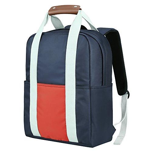 0fa17f0f8533b REYLEO Rucksack Reisegepäck Handgepäck für Laptop 14.1 Zoll für Reise und  Alltag Unisex Wasserdicht Blau und